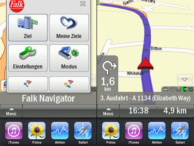 Falk Navigator Software für iPhone
