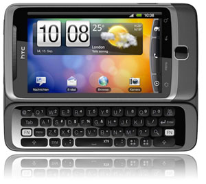 HTC Desire Z mit Route 66 Navi Software