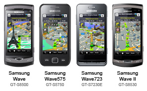 Samsung Wave Navigation Route 66