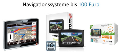 Navigationssysteme bis 100 Euro