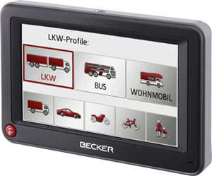 becker active 43 transit lkw bus wohnmobil navi. Black Bedroom Furniture Sets. Home Design Ideas