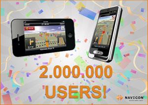 Navigon 2 Mio. Nutzer