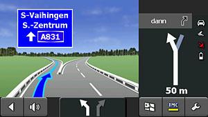 Falk S450 - Reality-View Autobahnabfahrt