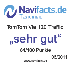 TomTom Via 120 Traffic Testergebnis