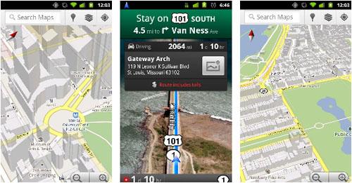 Google Maps Navigation für Android