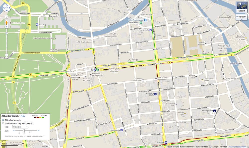 google maps navigation live verkehrsinformationen in 13. Black Bedroom Furniture Sets. Home Design Ideas