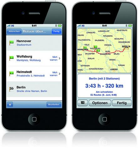 TomTom iPhone App - Multi-Stopp-Funktion