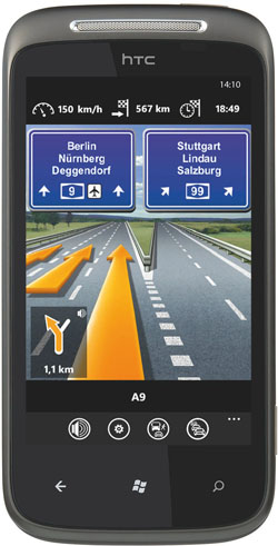 HTC mit Navigon Windows Phone 7
