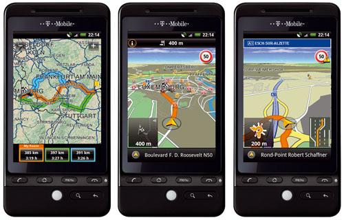 Navigon für Android 4.0