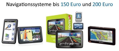 Navigationssysteme bis 150 und 200 Euro