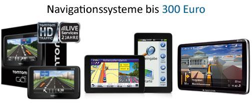 Navigationssysteme bis 300 Euro